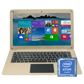 الصورة: I-LIFE ZedAir Intel Atom Quad-Core Ram 2GB Storage 500GB+32GB Win10 14""