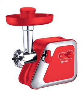 Picture of Dream DRMG-19006R Electric Meat Mincer 1400 W, 3 Cutting Discs - Red Silver