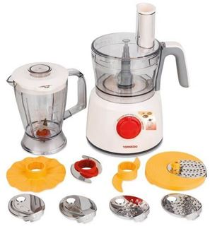 Picture of Tornado Food Processor 1000 Watt with 1.2 Liter Bowl and 1 Liter Blender TFP-1000CC